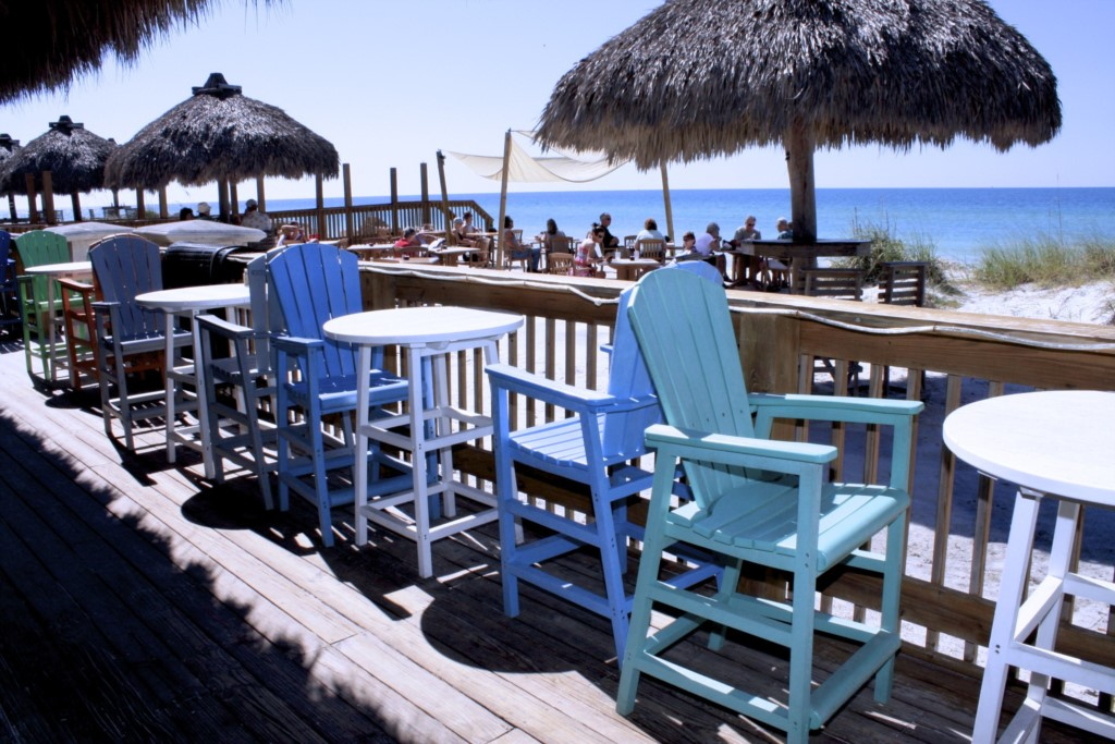 Waterfront dining at the Tiki Hut