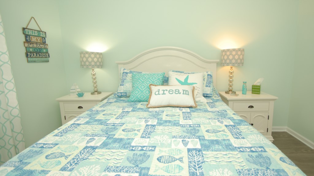 All new bedding and new memory foam mattress