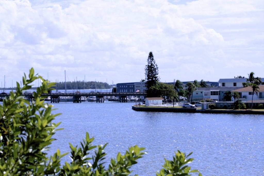 The Anna Maria Island marina visible from the condo