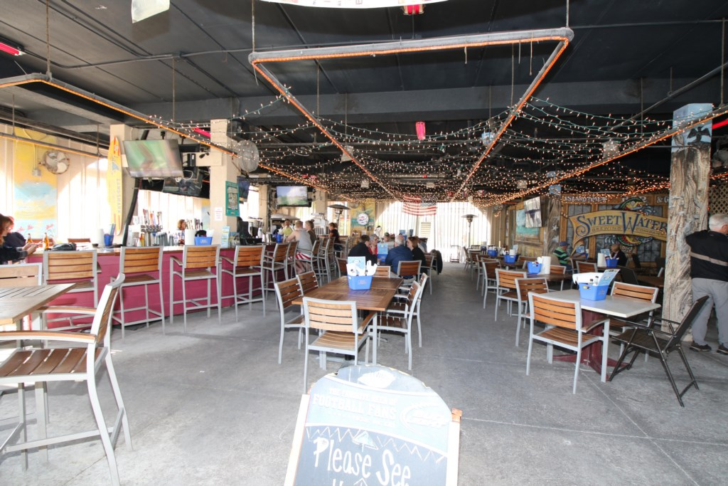 Island Time Resturant a five minute walk from the Beach Sands 101