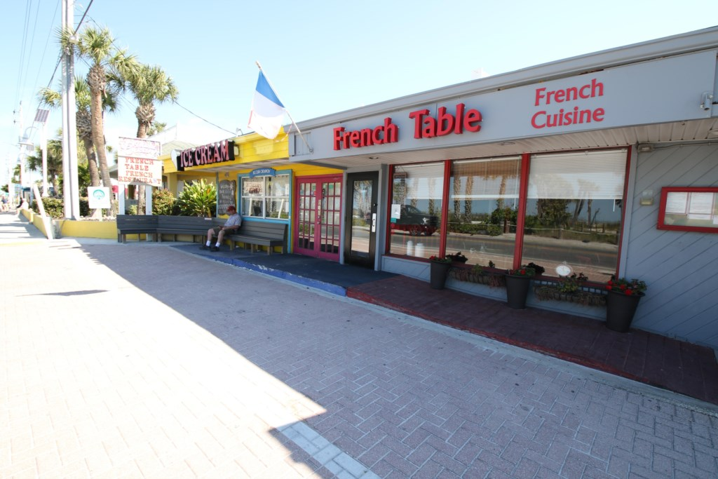 French Table Restaurant a five minute walk from the Beach Sands 101