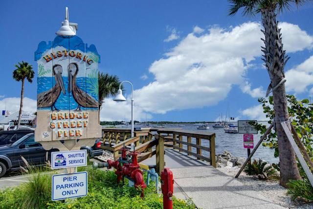 Bridge Street Pier a five minute walk from the Beach Sands 101