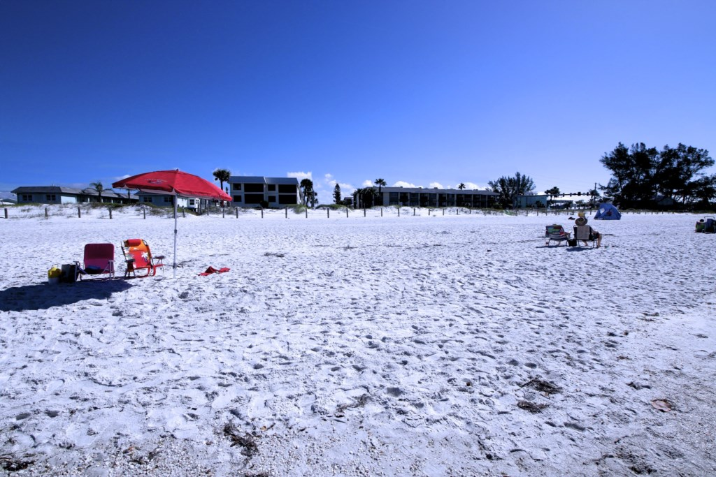 Looking back at the Beach Sands 101 from the Gulf of Mexico