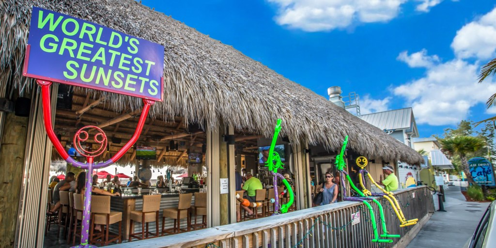 The Tiki Hut a five minute walk from the Beach Sands 101