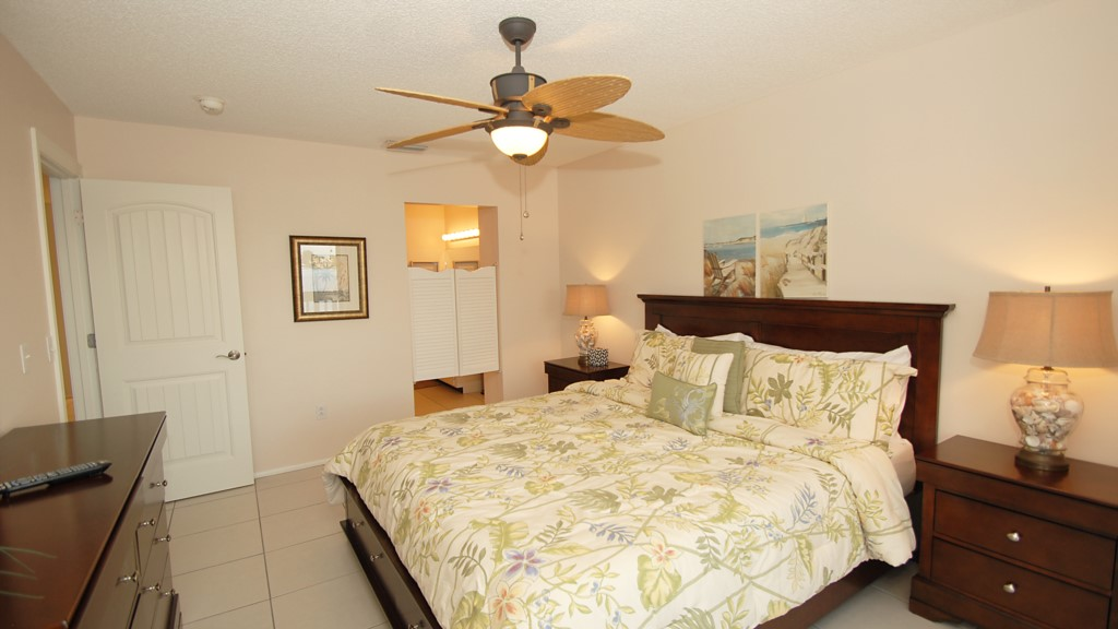 New master bedroom suite with matching ceiling fan