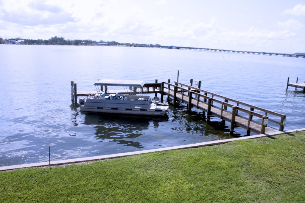 New boat and fishing dock