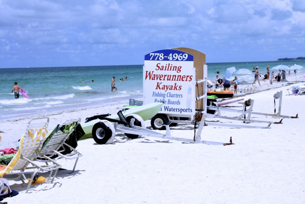 All your watercraft rentas right on the beach