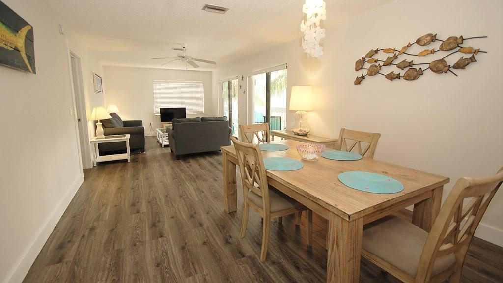 Anna Maria Island Condo - Living Room - Dining Room