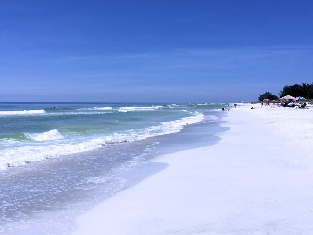 Walk for miles and miles on white powder sand beaches