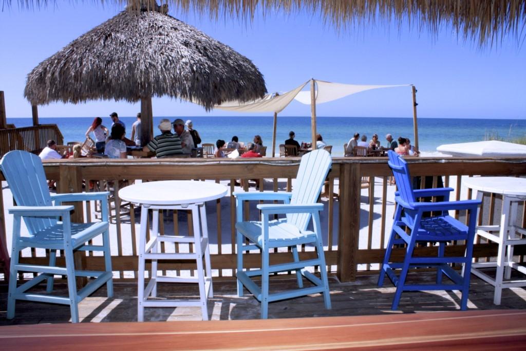 Eat on the beach at the Tiki Hut