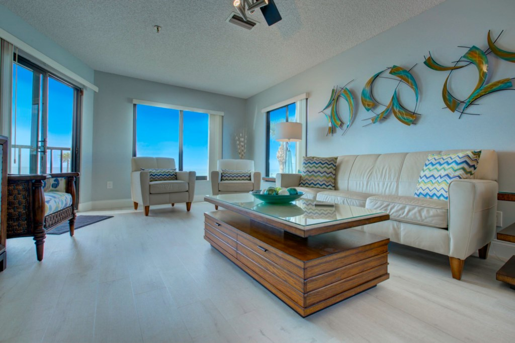 Livingroom And Gulf Of Mexico