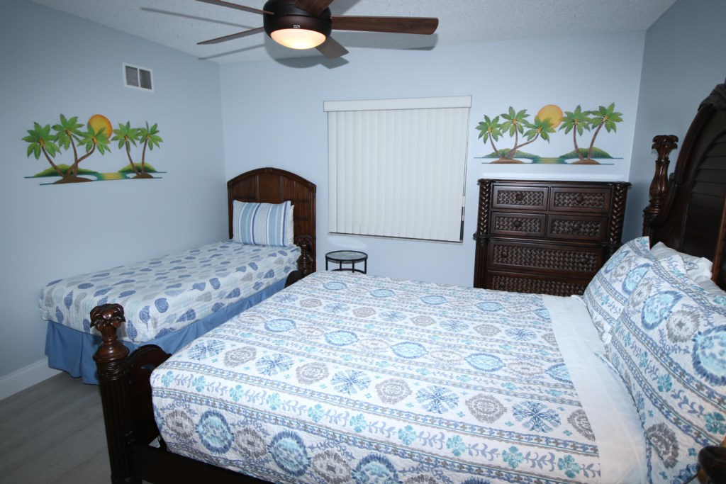 Second Bedroom-One Queen Bed And One Twin Bed