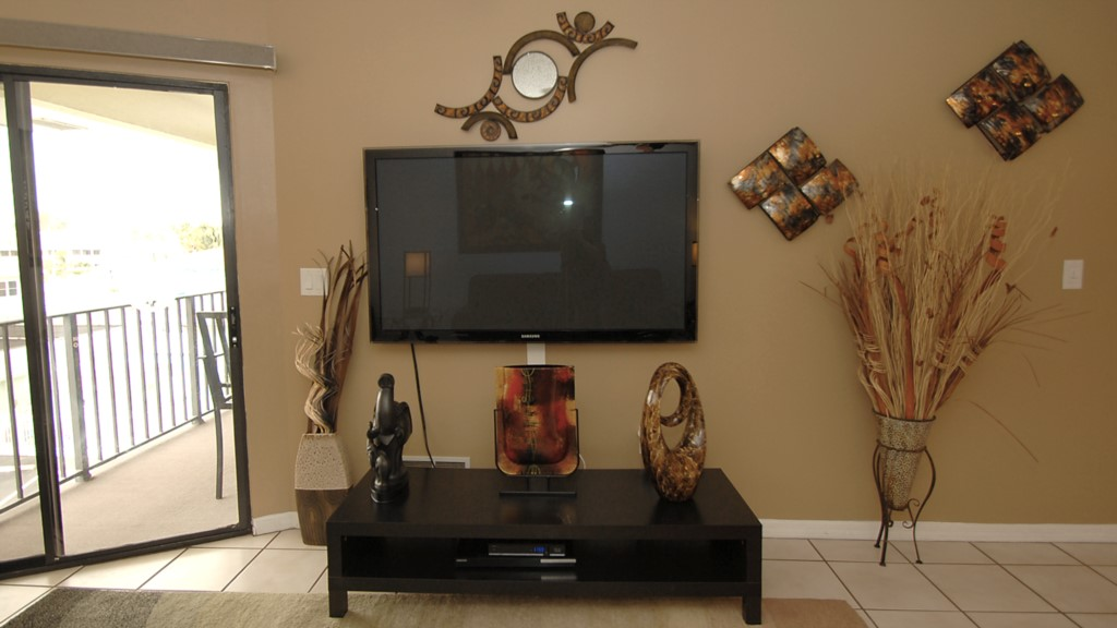 Sixty inch television with HD television