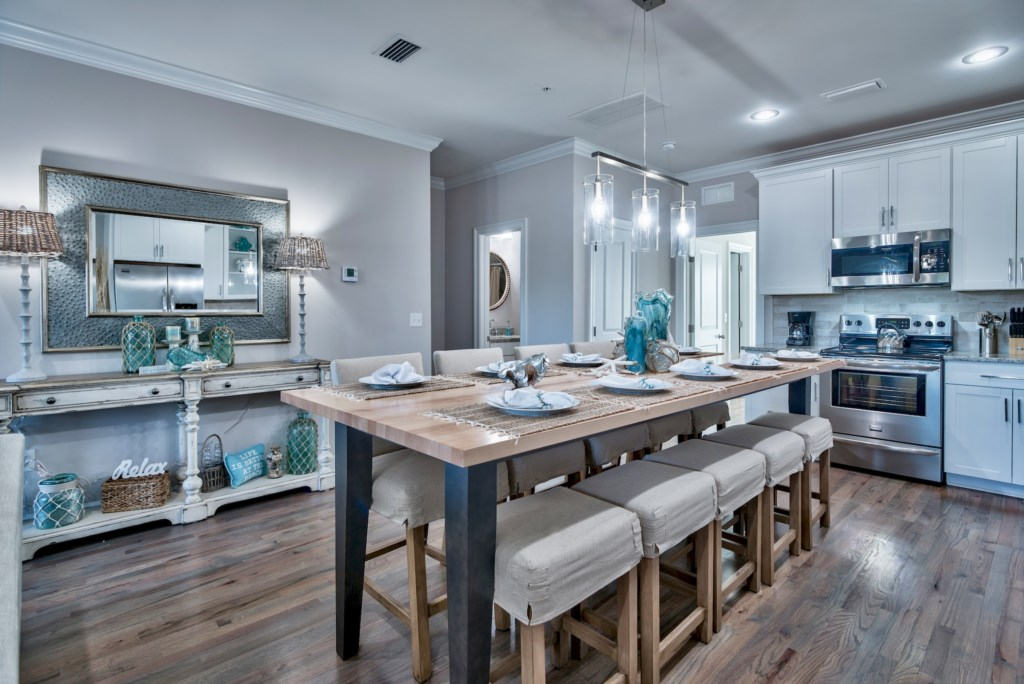 Be inspired in your Gourmet Kitchen with high-end stainless appliances