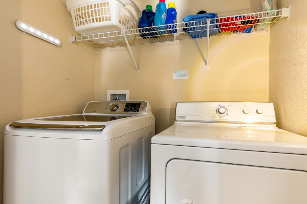 Laundry Amenities - washer & dryer
