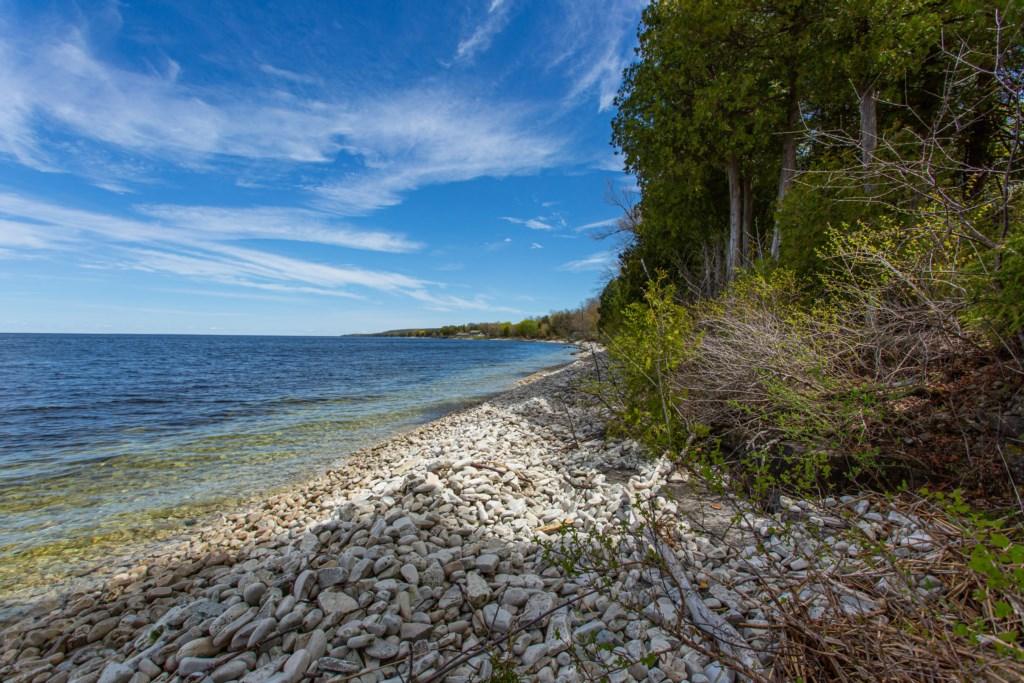 Shoreline by cabin