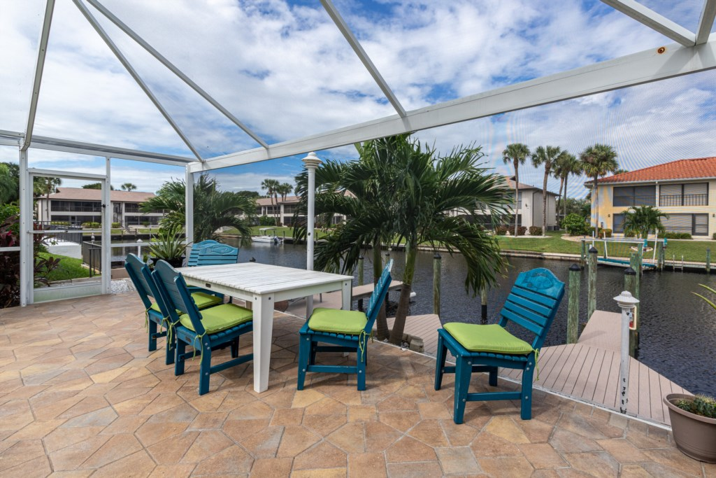 Enjoy the Waterfront Deck Area