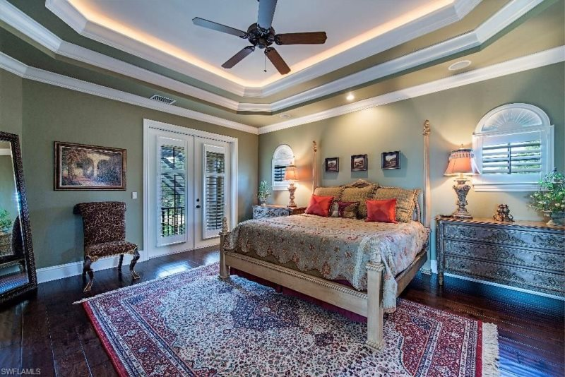 South of Broad Opulent Master Bedroom with a Balcony Overlooking Private Pool & Spa