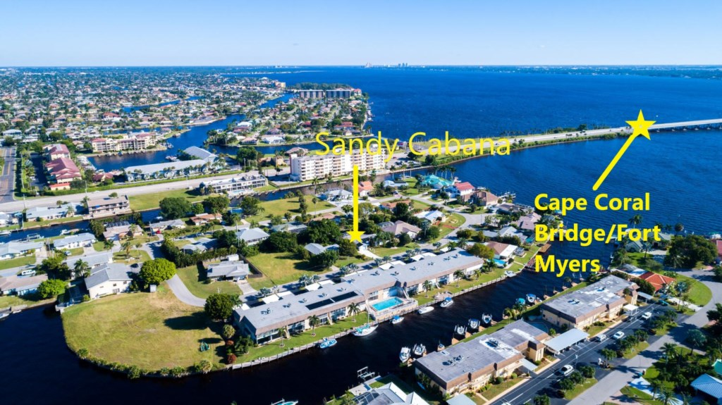 Right next to the Cape Coral Bridge for easy Fort Myers access