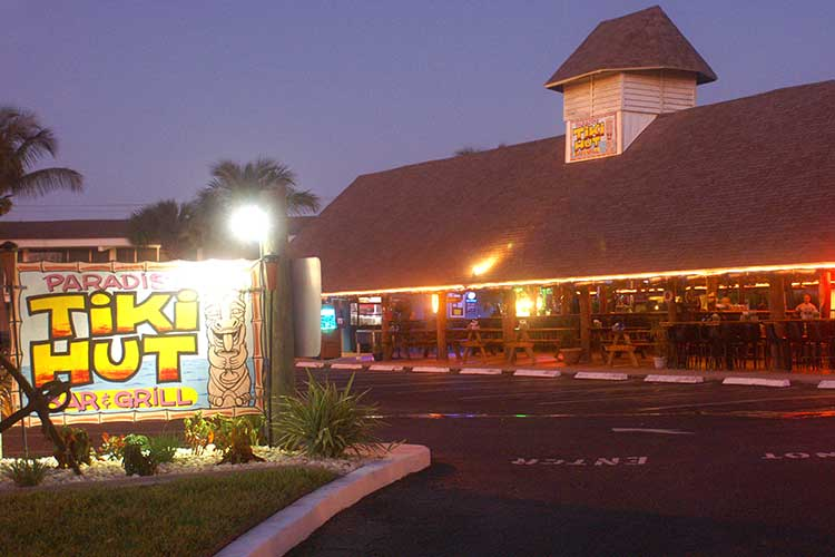 The Tiki Hut is only a half a mile away! Live entertainment 7 days a week, great happy hour and pet