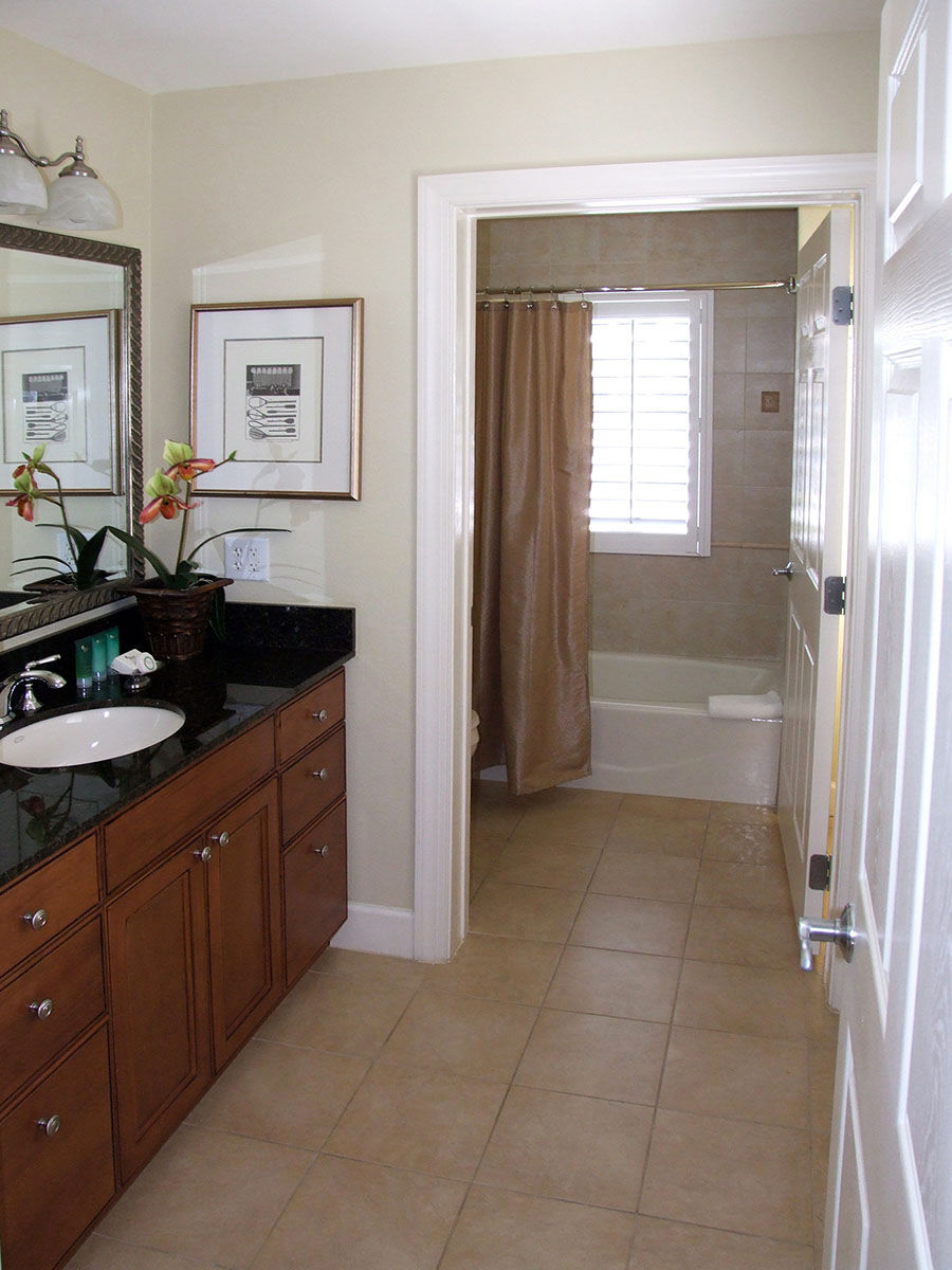 Bathroom 2 - all have granite tops and hotel-style toiletries