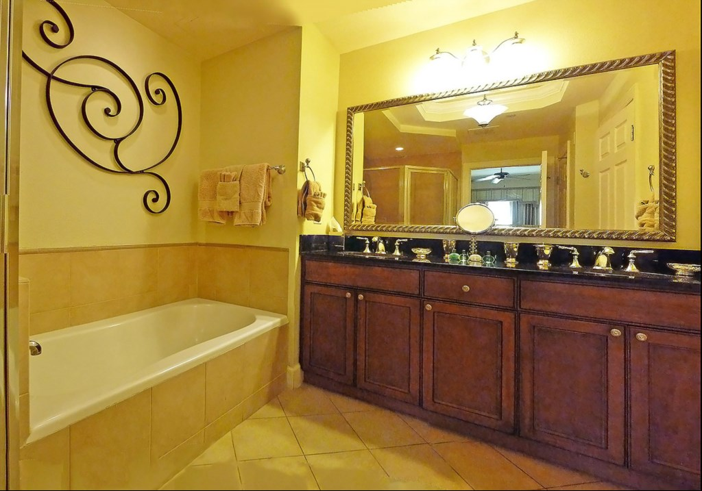 Master bathroom - twin sinks/granite counter tops