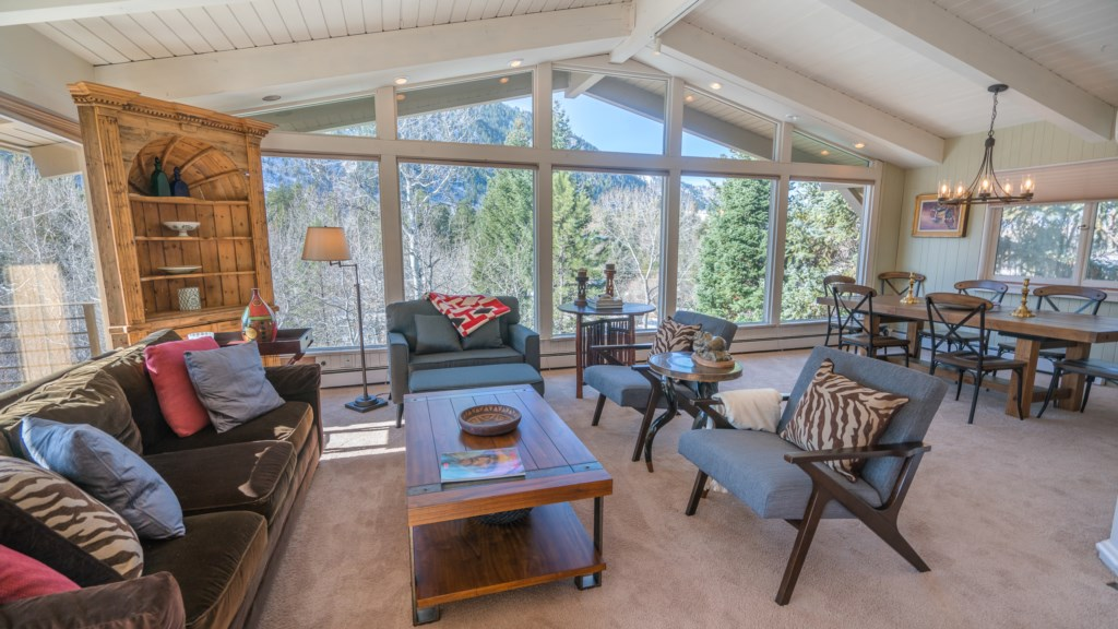 Living Room: Views of Aspen Mountain