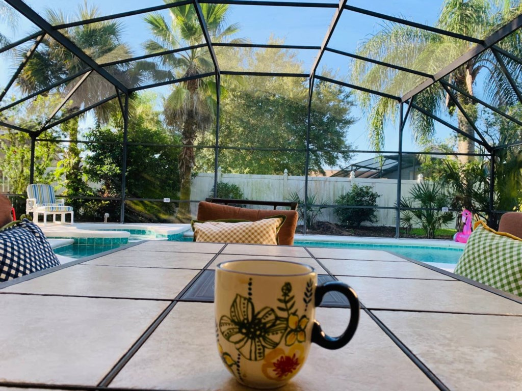 Morning coffee with the pool view.jpg