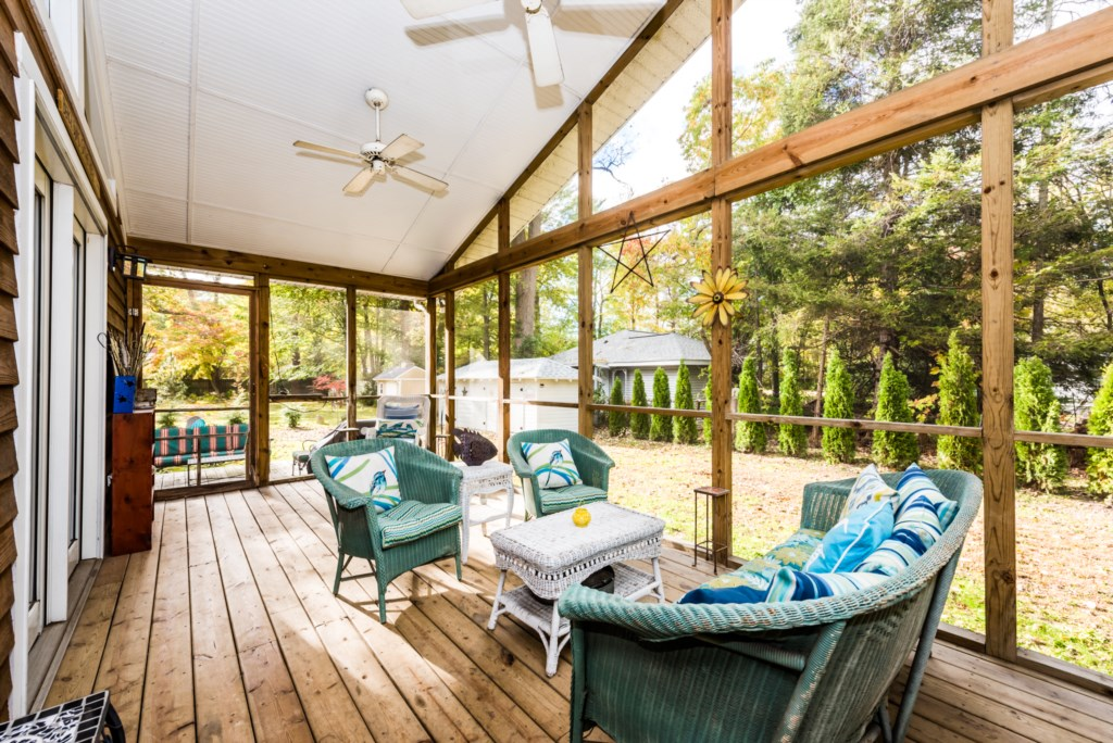 Spacious Screened-In Porch