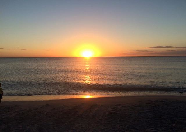Great sunsets at the local Cape Coral public beach less than 2 miles away!