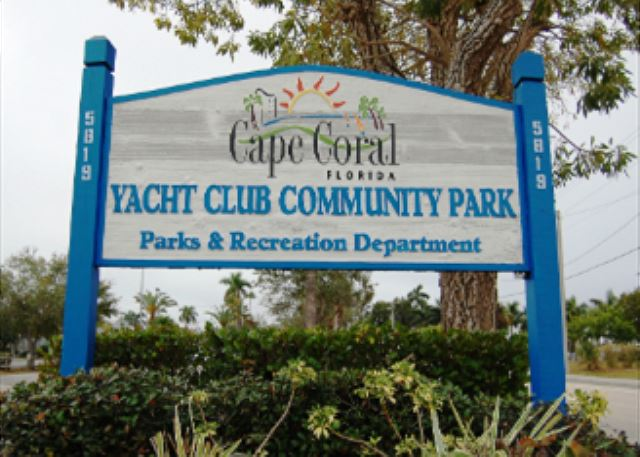 Cape Coral Yacht club is less than 2 miles away with local beach!
