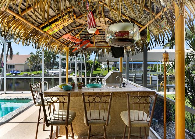 No vacation is complete without your very own tiki bar!