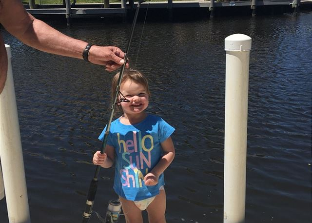 Abby's first fish!