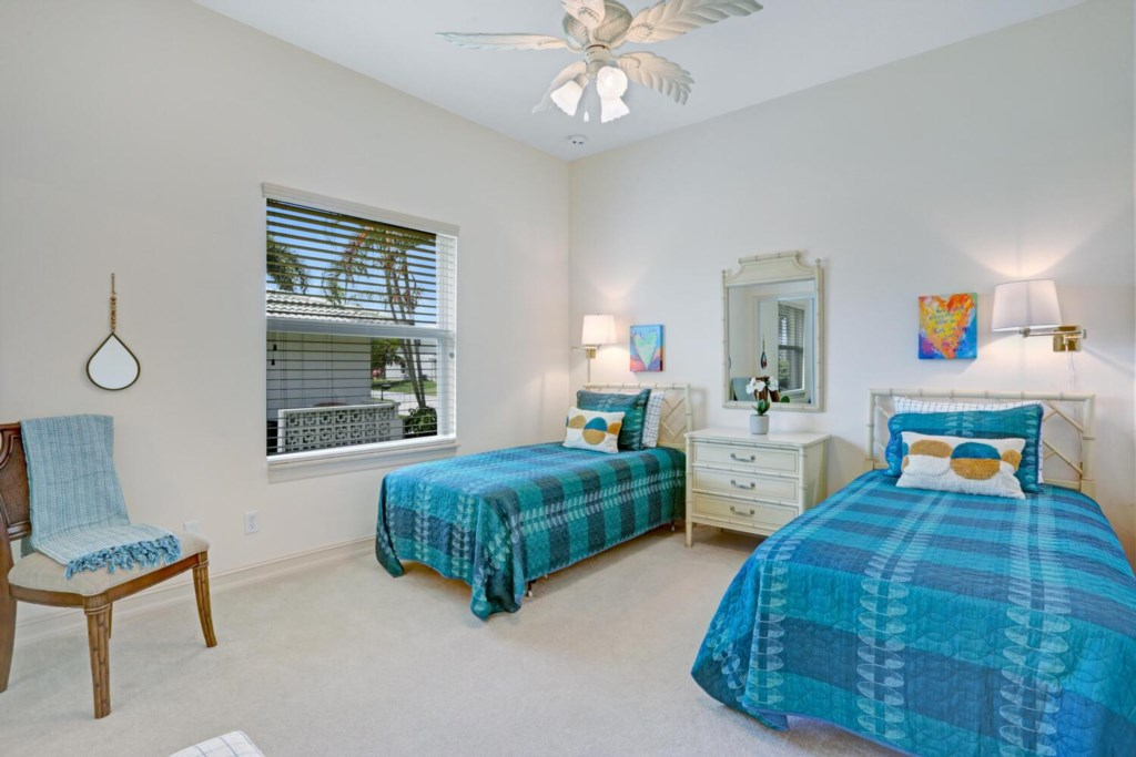 3rd bedroom with two twin sized beds
