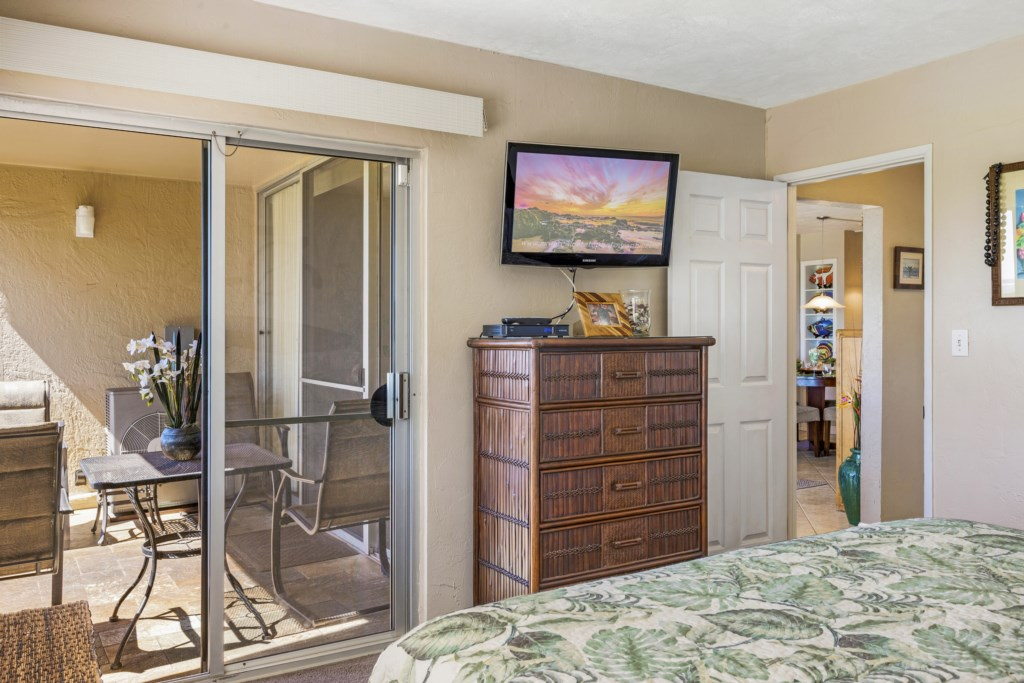 Private access to outside from master bedroom