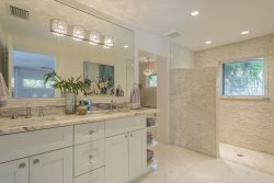 Gorgeous Bathroom, Light and Bright -- Ceiling to Floor Tile -- Naples Luxury
