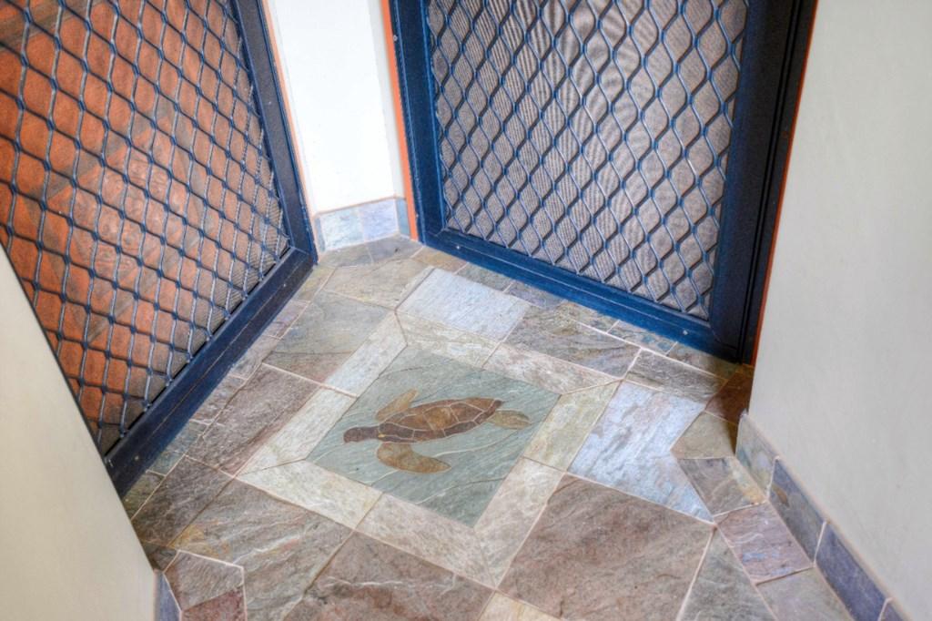 Custom Turtle Tile Work to Welcome You
