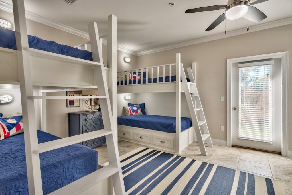 Spacious 1st Floor Bunk Room
