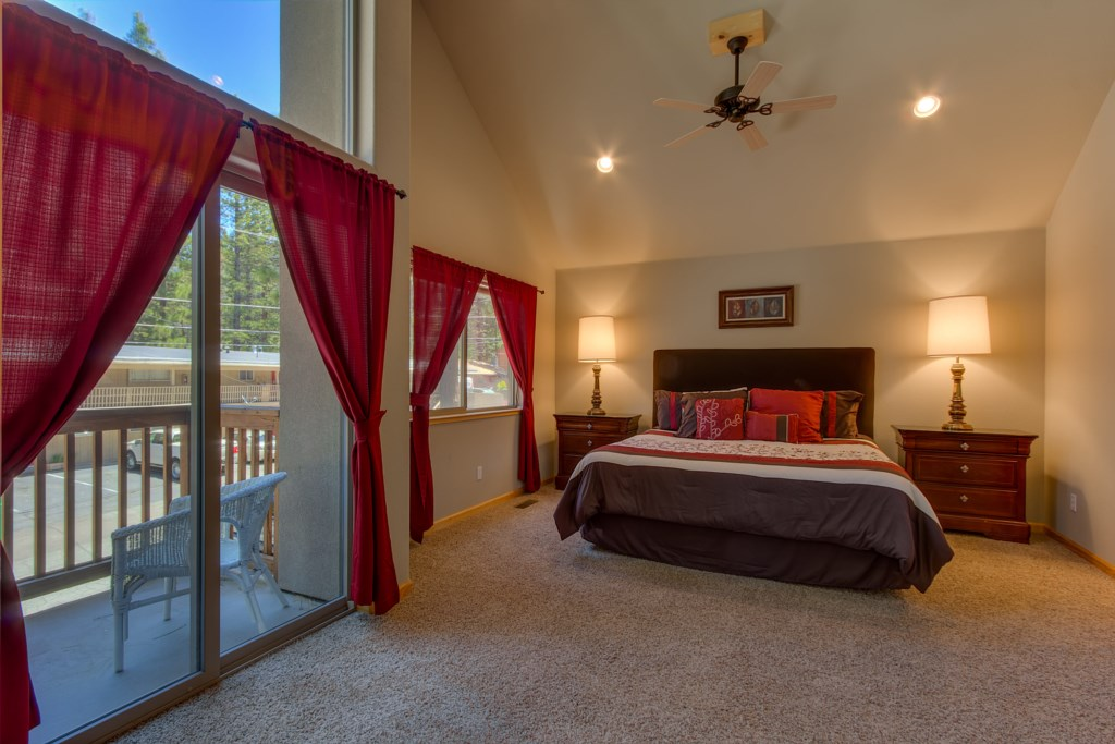 The Spacious Master Bedroom is located on the 2nd Floor with a King Size Bed and Queen pullout sofa