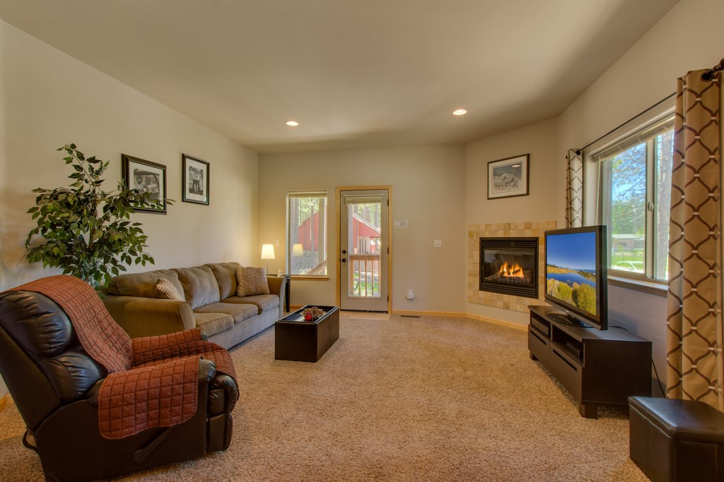 Enjoy more space in the Family room with outdoor access
