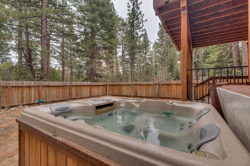After a day of adventures relax in your hot tub