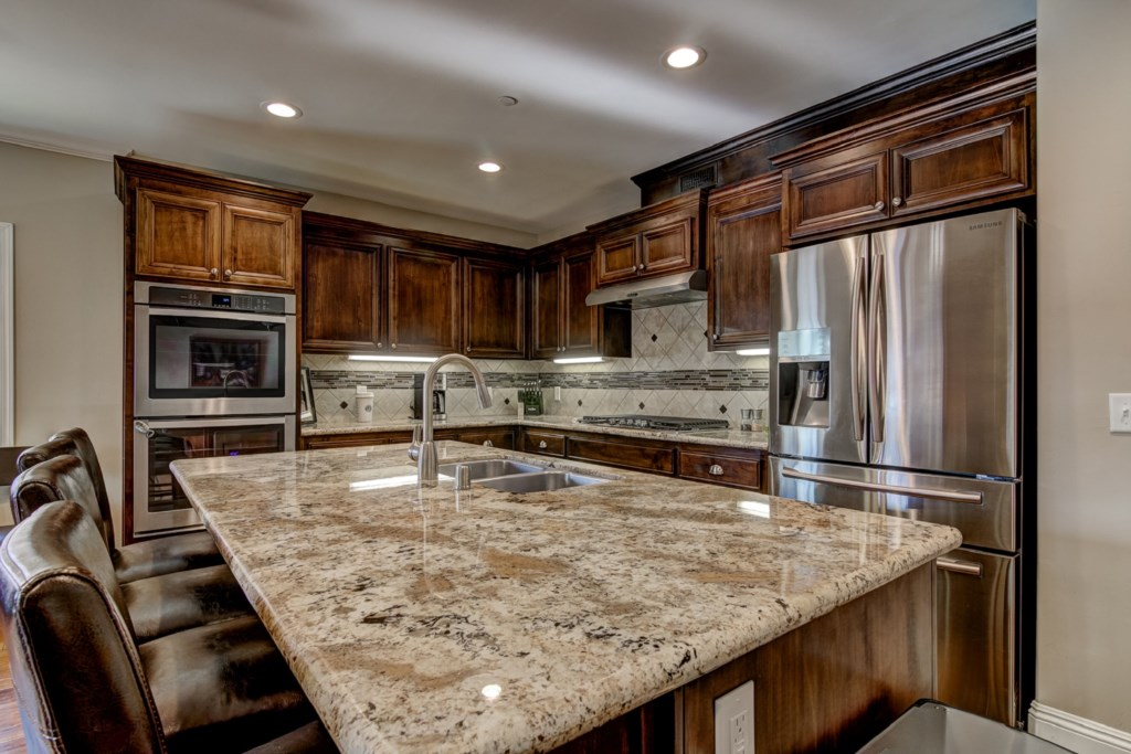 Enjoy your Gourmet Kitchen stocked with everything you need to prepare an unforgettable meal