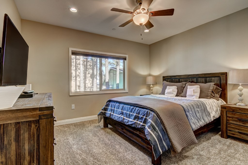 The Master Bedroom boasts a private enclosed deck and a Master Bathroom