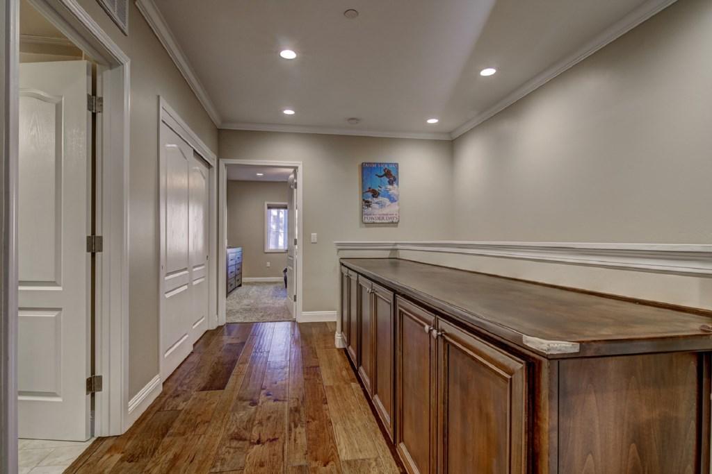 Spacious hallway with plenty of storage