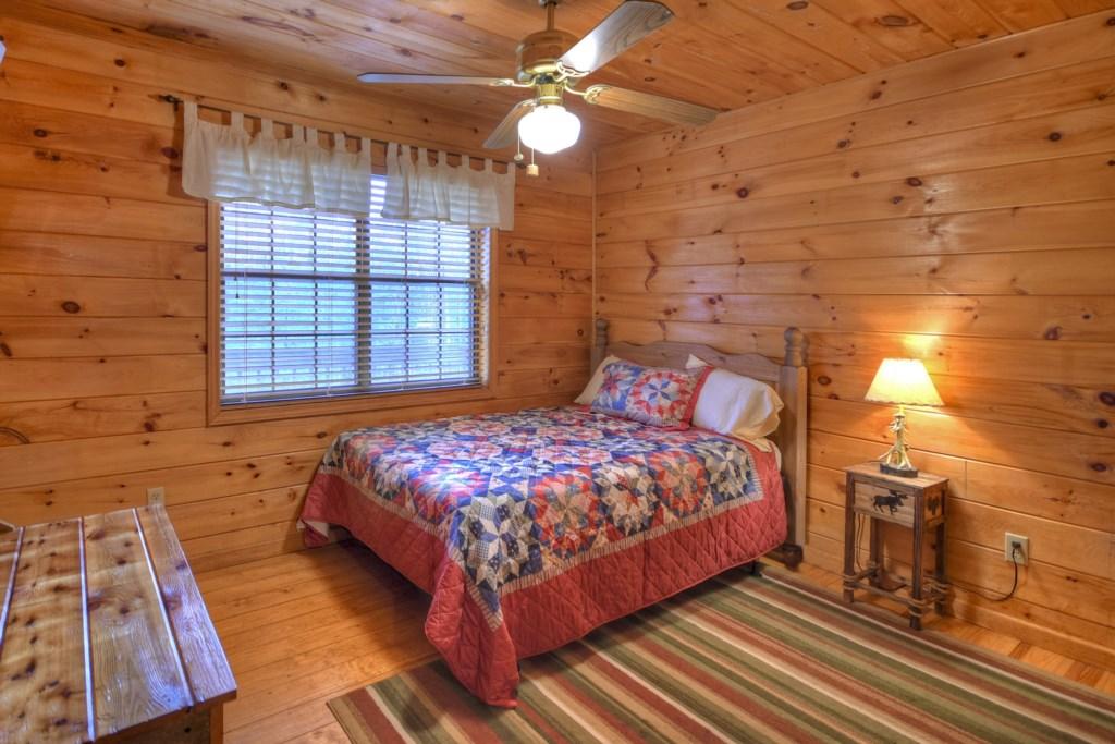 Comfortable bedroom with window view