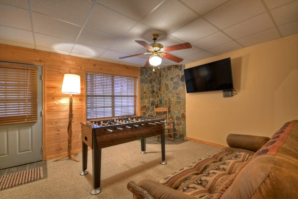 Game Room with Football table and TV