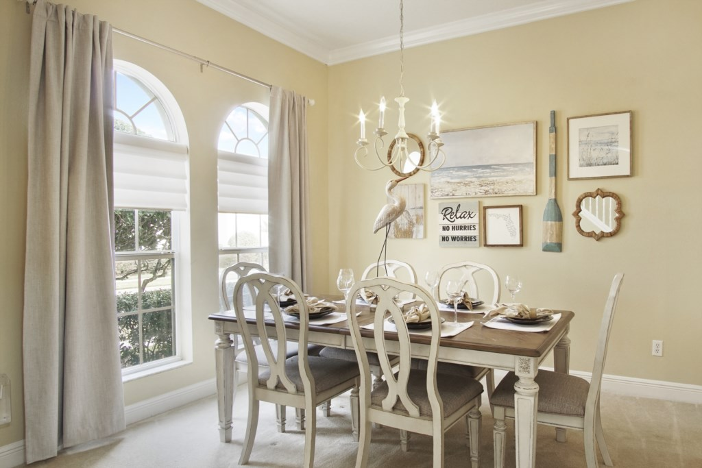 Formal Dining Room for 6 off the Kitchen