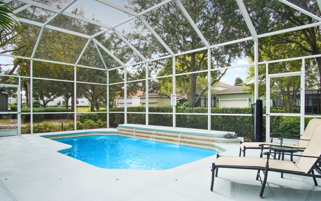 Southwest facing pool