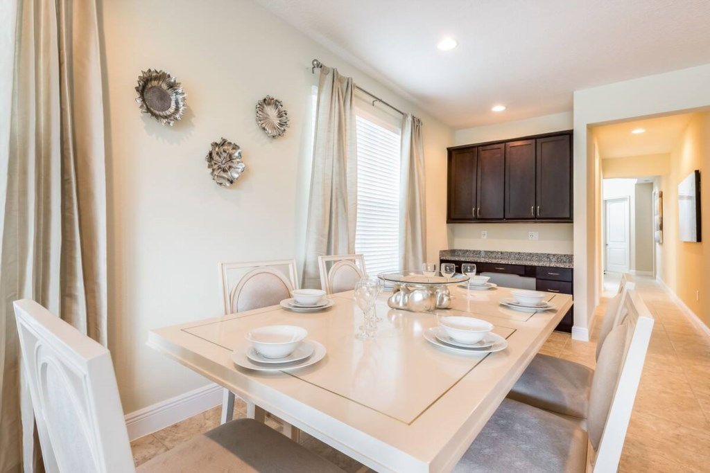 Large Dining Table, seating for 6, great for Family meals and game playing.