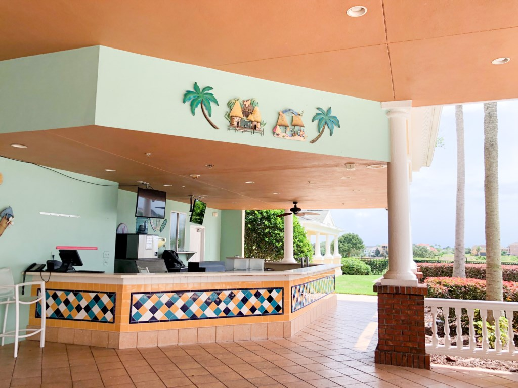 Enjoy poolside dining at The Cove bar & grill - Open daily 7am - 11pm.